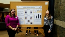 students with poster presentation