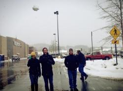group outside of Walmart