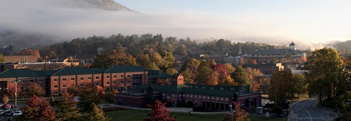panoramic view of Appalachian State University campus